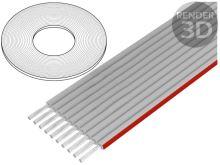 Kabel plochý 10x28AWG 1.27mm