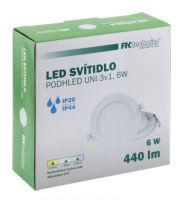 LED svítidlo - PODHLED 3V1 kulaté 6W (3K/4K/5K)