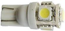 LED žárovka T10 12V, 5x0,25W, W2,1x9,5d bílá
