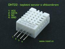 senzor - vlhkost + teplota  DHT22
