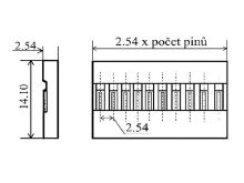 BLS tělo konektoru 1x2