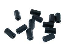 Plastový distanční sloupek M3x12mm (závit 2x vnitřní) polyamid černý