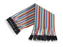 nepájivé pole - sada 40 kablíků barevné