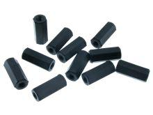 Plastový distanční sloupek M3x15mm (závit 2x vnitřní) polyamid černý