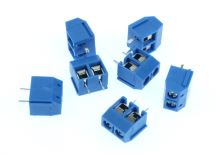 svorka šroub. 2x PCB 5mm (modrá)
