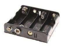 """plastový držák baterie 4xR6 (AA, """"tužka"""") s klipsem"""