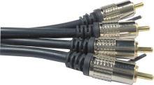 AV 2CINCH V-2CINCH V  kovové konektory 1m