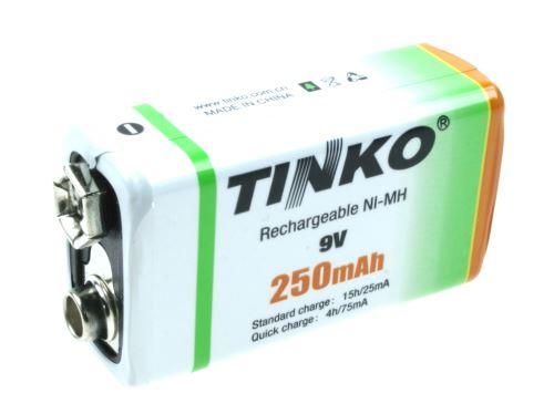 akumulátor 9V/250mAh NiMH TINKO