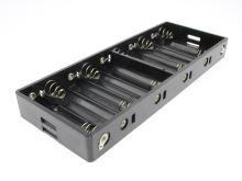 """lastový držák plochý na 10 """"tužkových"""" baterií (typ AA nebo R6) s pájecími očky"""