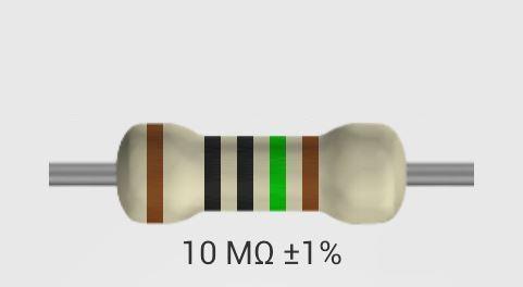rezistor 10M0/F 0207