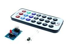 modul - dálkové ovládání - vysílač a přijímač, 21 tlačítek, IR LED