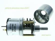 motor s převodovkou GM37 - 065ot/min s osičkou