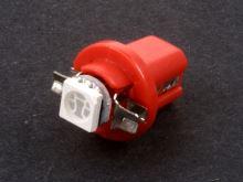 Autožárovka LED 12V- 0,5W (B8,5D) červená